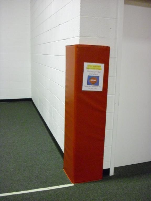 Fec Safety Spotlight Column And Wall Padding Insure My Fec